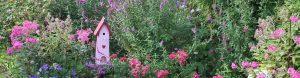 Lemo Gartendesign | Blumenbeet mit Vogelhäuschen